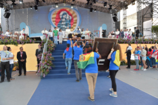 1-Apostolic Journey to Panama: Welcome ceremony and opening of WYD at Campo Santa Maria la Antigua – Cinta Costera