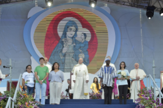 5-Apostolic Journey to Panama: Welcome ceremony and opening of WYD at Campo Santa Maria la Antigua – Cinta Costera