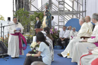 6-Apostolic Journey to Panama: Welcome ceremony and opening of WYD at Campo Santa Maria la Antigua – Cinta Costera
