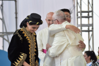 4-Apostolic Journey to Panama: Welcome ceremony and opening of WYD at Campo Santa Maria la Antigua – Cinta Costera