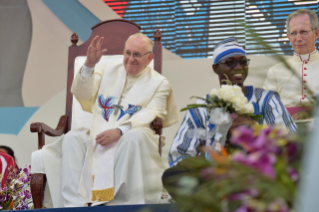 8-Apostolic Journey to Panama: Welcome ceremony and opening of WYD at Campo Santa Maria la Antigua – Cinta Costera