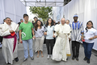11-Apostolic Journey to Panama: Welcome ceremony and opening of WYD at Campo Santa Maria la Antigua – Cinta Costera