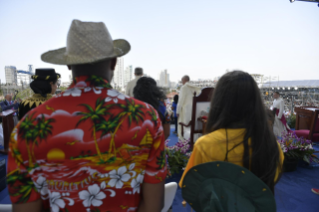12-Apostolic Journey to Panama: Welcome ceremony and opening of WYD at Campo Santa Maria la Antigua – Cinta Costera