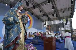 10-Apostolic Journey to Panama: Welcome ceremony and opening of WYD at Campo Santa Maria la Antigua – Cinta Costera