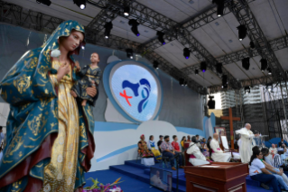 24-Apostolic Journey to Panama: Welcome ceremony and opening of WYD at Campo Santa Maria la Antigua – Cinta Costera
