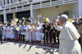 7-Apostolic Journey of the Holy Father to Thailand: Official welcome