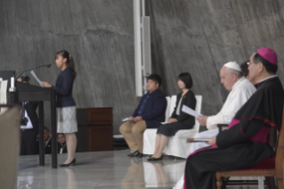 4-Apostolic Journey to Japan: Meeting with Young People