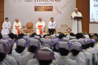 11-Apostolic Journey to Thailand: Meeting with the medical staff of St. Louis Hospital
