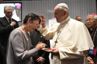 5-Apostolic Journey to Japan: Meeting with the victims of Triple Disaster