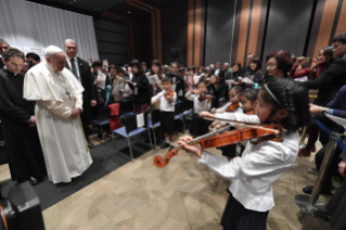 14-Apostolic Journey to Japan: Meeting with the victims of Triple Disaster