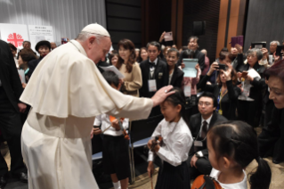 3-Apostolic Journey to Japan: Meeting with the victims of Triple Disaster