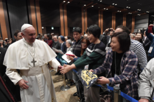 13-Apostolic Journey to Japan: Meeting with the victims of Triple Disaster