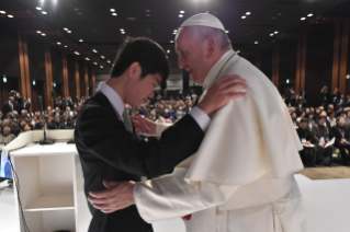 7-Apostolic Journey to Japan: Meeting with the victims of Triple Disaster