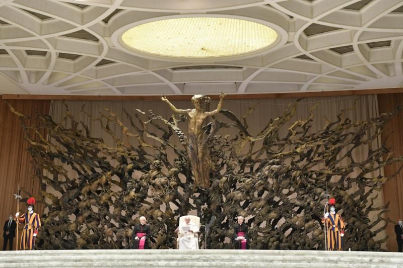 Papa, en el aula Pablo VI