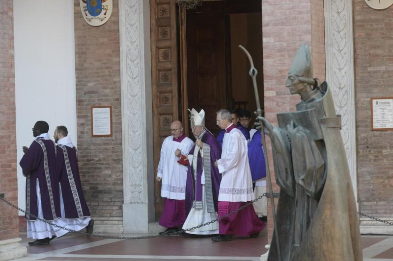 Procesión con el Papa Francisco