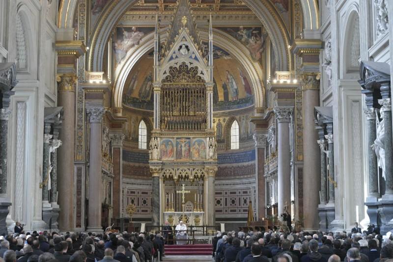 Encuentro del Papa con los sacerdotes de Roma