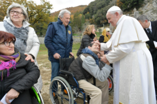 5-Visit of the Holy Father to the Franciscan Shrine of Greccio