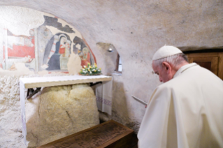 10-Visit of the Holy Father to the Franciscan Shrine of Greccio