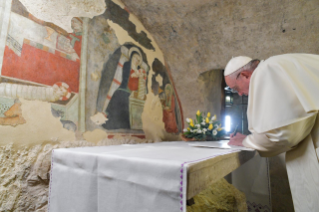 11-Visit of the Holy Father to the Franciscan Shrine of Greccio