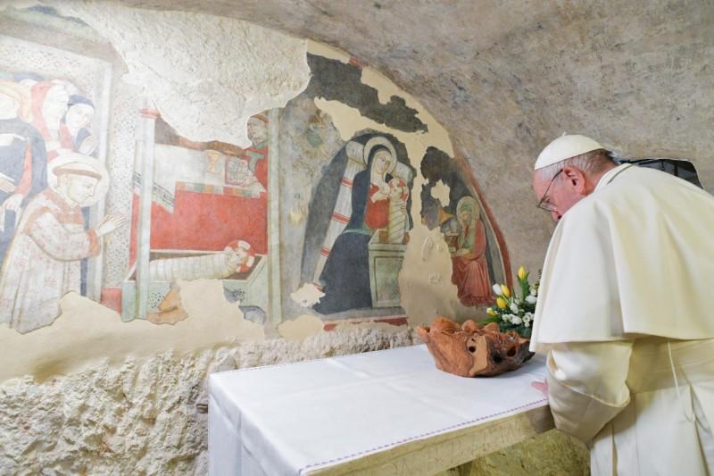 El Papa, en Greccio