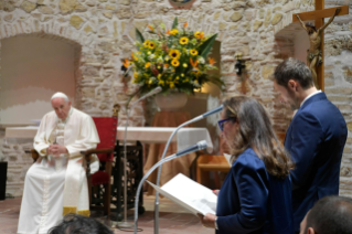 12-Visit of the Holy Father to the Franciscan Shrine of Greccio