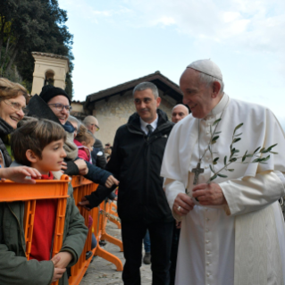 15-Visit of the Holy Father to the Franciscan Shrine of Greccio