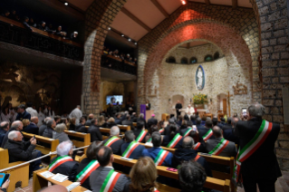 21-Visit of the Holy Father to the Franciscan Shrine of Greccio