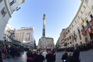 10-Act of Veneration to the Immaculate Conception of the Blessed Virgin Mary at the Spanish Steps