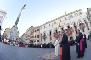11-Act of Veneration to the Immaculate Conception of the Blessed Virgin Mary at the Spanish Steps