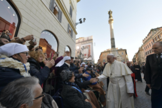 18-Act of Veneration to the Immaculate Conception of the Blessed Virgin Mary at the Spanish Steps