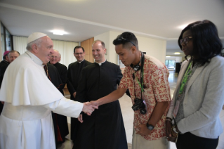 0-Pre-Synodal meeting with young people at the International Pontifical College