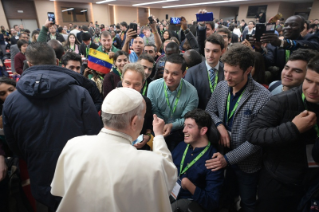 16-Pre-Synodal meeting with young people at the International Pontifical College