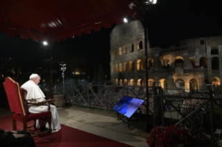 3-Way of the Cross at the Colosseum presided over by the Holy Father - Good Friday