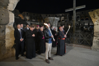 12-Way of the Cross at the Colosseum presided over by the Holy Father - Good Friday