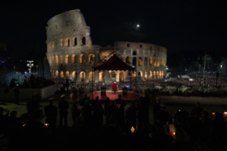 21-Way of the Cross at the Colosseum presided over by the Holy Father - Good Friday