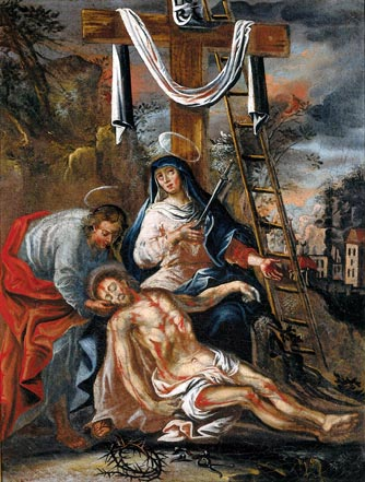 Jesus is taken down from the Cross and given to his Mother: Thirteenth Station