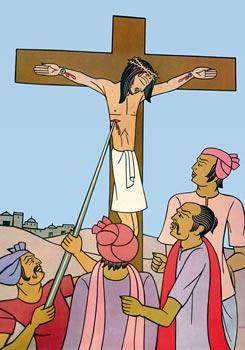 neben jesus am kreuz