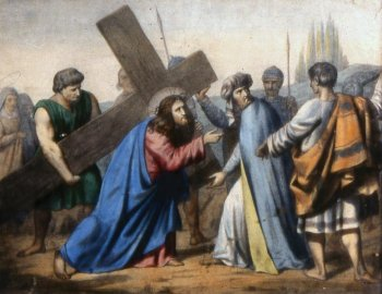 V Station: Simon of Cyrene helps Jesus to carry the Cross - Way of the Cross 2013