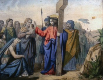 VIII Station: Jesus meets the women of Jerusalem who weep for him - Way of the Cross 2013