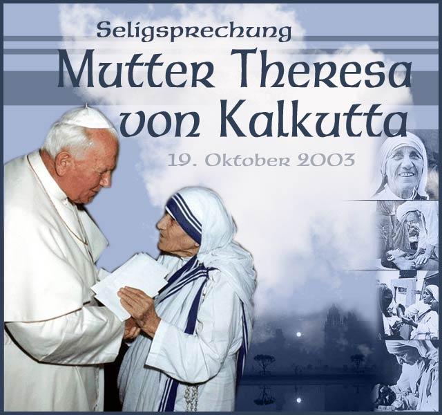 Mutter Teresa Seligsprechung