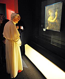 Benedetto xvi visita la mostra il potere e la grazia a for Mostra cina palazzo venezia