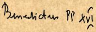 firma di benedetto XVI