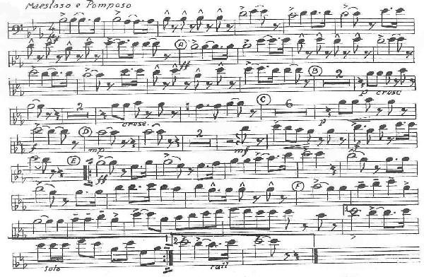 Partiture trombone