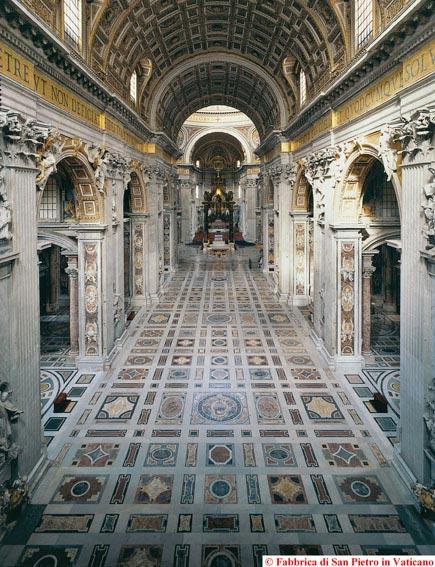 Basilica papale san pietro for Interno san pietro